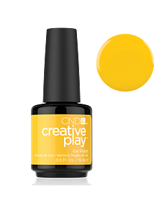 Yellow Gel polish #462 Taxi Please CND Creative Play