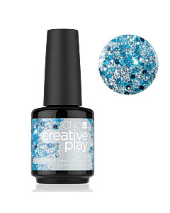 Gel Polish Blue glitter #459 Kiss Teal CND Creative Play