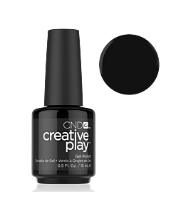 Black Gel Polish #451 Black Forth CND Creative Play