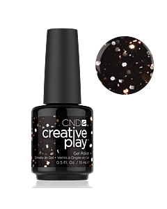 Black Glitter Gel Polish #450 Nocturne It Up CND Creative Play