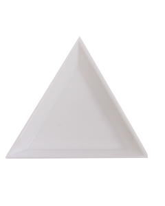 White Triangle Tray for Nail Stones