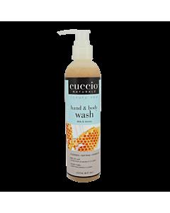 Cuccio Body Wash Miel Et Lait 8 Onces (Avec Pompe)