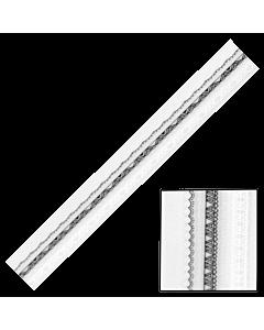 Décalques 3-D modèle bande dentelle A22 noir et blanc