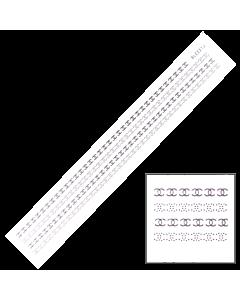 Décalques 3-D modèle Bande Pointillée Or