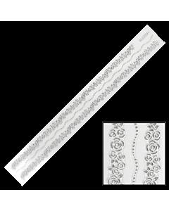 Décalques 3-D modèle Bande de Fleurs Argent BLE229J