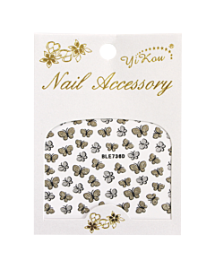 3D Nail Sticker Butterfly Silver/Gold