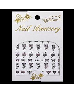3-D Nail Sticker Butterfly Pink/Purple/Silver