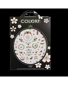 3-D Nail Sticker model Christmas/Deer/Snowflake