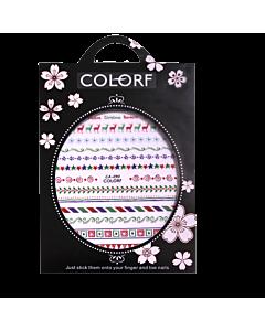 3-D Nail Sticker model Christmas/Deer/Star