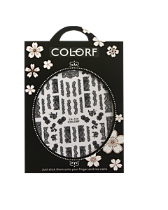 3-D Nail Sticker model Dentelle Noire