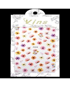 3-D Nail Sticker model Flower F024