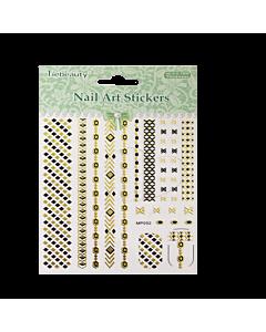 3-D Nail Sticker model Metallic Chevron/Hexagon
