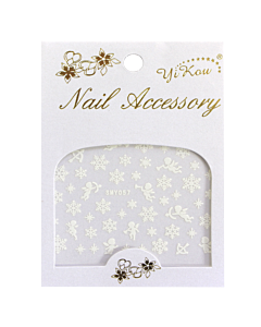 3-D Nail Sticker model White Cupid and snowflake