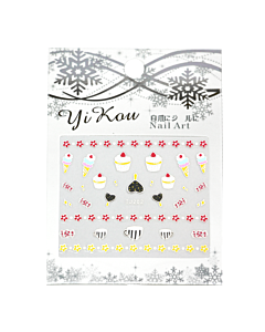 3-D Nail Sticker model cupcakes