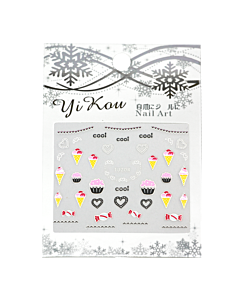 3-D Nail Sticker model cupcakes TJ204