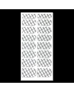 Décalque Métallisé Intégral Flèches Blanc/Argent #057
