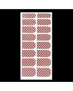 Décalque Métallisé Intégral Résille Rouge/Argent #067