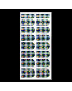 Décalque Métallisé Intégral Petits Pois Multicolores #101