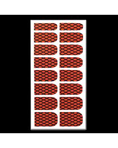 Décalque Métallisé Intégral Résille Noir/Rouge #162