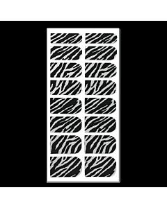 Décalque Métallisé Intégral Zébré Noir/Argent #181