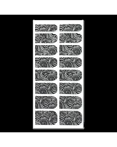 Décalque Métallisé Intégral Zébré Noir/Argent #186