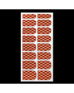 Décalque Métallisé Intégral Triangles Rouge/Or #192