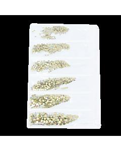Décorations en Sachet Pierres Argent Hologramme 003