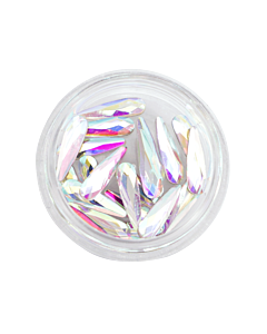 Nail Art Kit 20 - Teardrop Shaped Stones Clear AB 20pcs