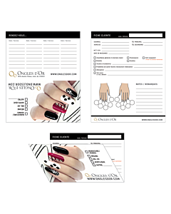 Nails Customer's Data Sheets, 25 Data Sheets Booklet