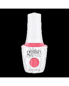 Gelish UV gel bottle. Cancan We Dance? - Coral Pink Glitter