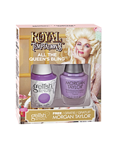 Gelish Vernis UV + Morgan Taylor All the Queen's Bling 15 mL