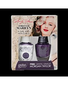 Gelish Gel Polish + Morgan Taylor A Girl and Her Curls