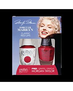 Gelish Gel Polish + Morgan Taylor Classic Red Lips