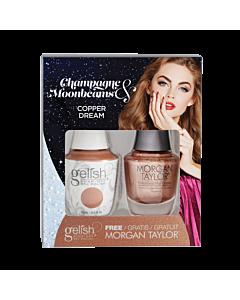 Gelish Gel Polish + Morgan Taylor Copper Dream