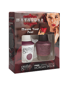 Gelish Vernis gel + Morgan Taylor Mauve your Feet 15mL