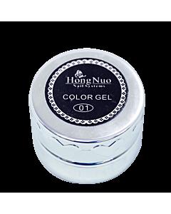 Gel Élastique UV/LED #01 Noir 8mL (Hong Nuo)