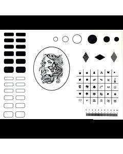 Big Silicone Nail Art Mat 40,5cm x 30,5cm