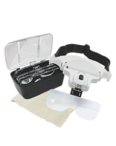 LED Magnifying Eyeglasses with 5 Lens