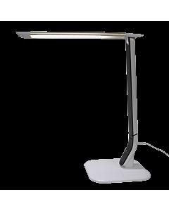 Lampe de table LED 10 watts blanche et argent