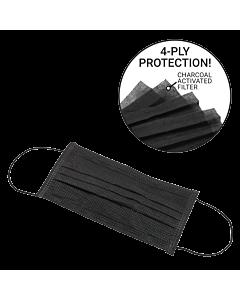 Charcoal Activated Filter Face Masks - Black (50pcs)