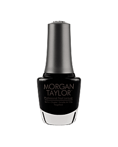Morgan Taylor Nail Polish Black Shadow 15mL - bottle