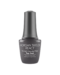 Morgan Taylor Nail Polish REACT Top Coat 15mL