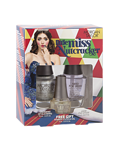 Morgan Taylor Nail Polish Duo Little Miss Nutcracker silver