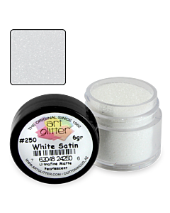 Art Glitter 250 White Satin 1/4 oz