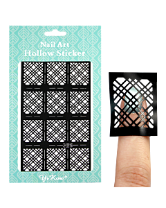 Adhesive stencil model plaid design black