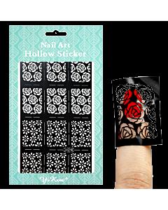 Adhesive stencil model flowers