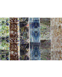 Nail Art Transfer Paper - various shell textures 15pcs