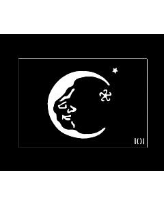Pochoir pour tattoo temporaire Lune #101