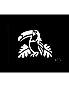 Pochoir tattoo temporaire Perroquet toucan  #126