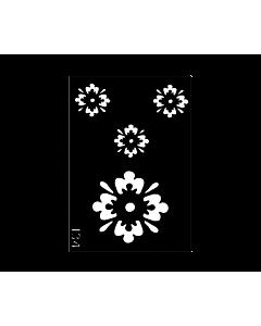 Pochoir pour le Corps fleurs